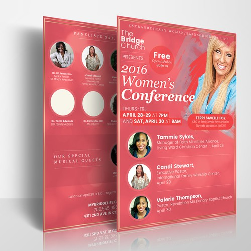 Flyer design for Women`s Conference