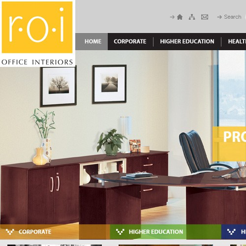 New website design wanted for r.o.i Office Interiors