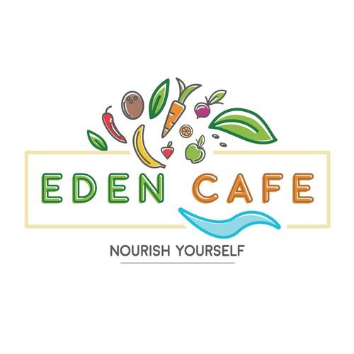 Fun, tropical logo for cafe in Bali