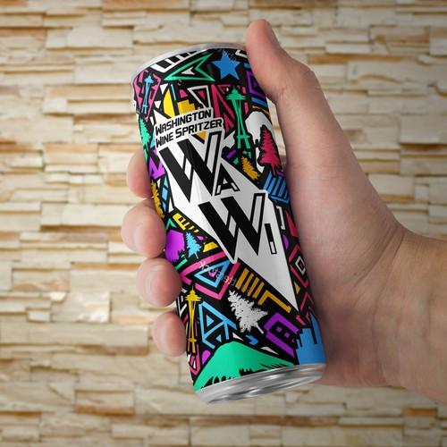 Cool, Colorful design For WaWi Washington Wine Spritzer