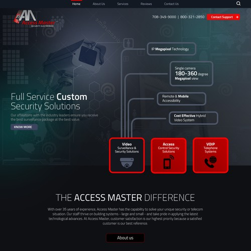 Homepage for Security systems