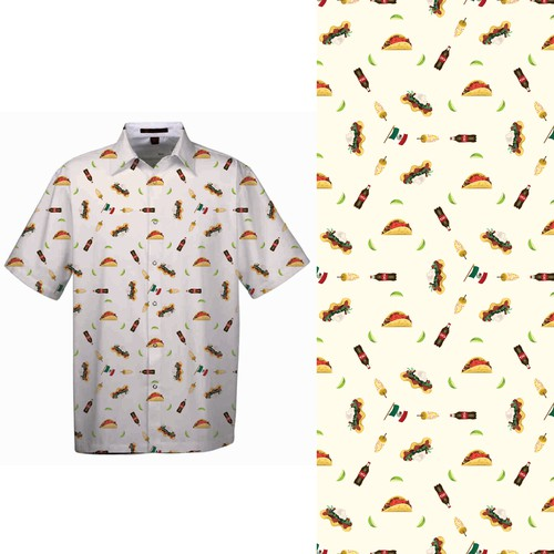 A Taste of Mexico - pattern for men's summer shirt.