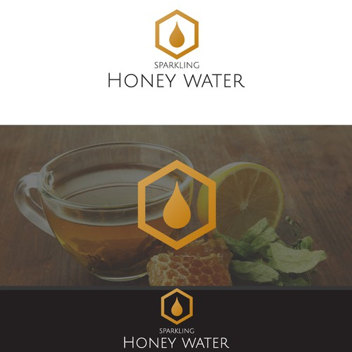 Logo for water with Honey flavour