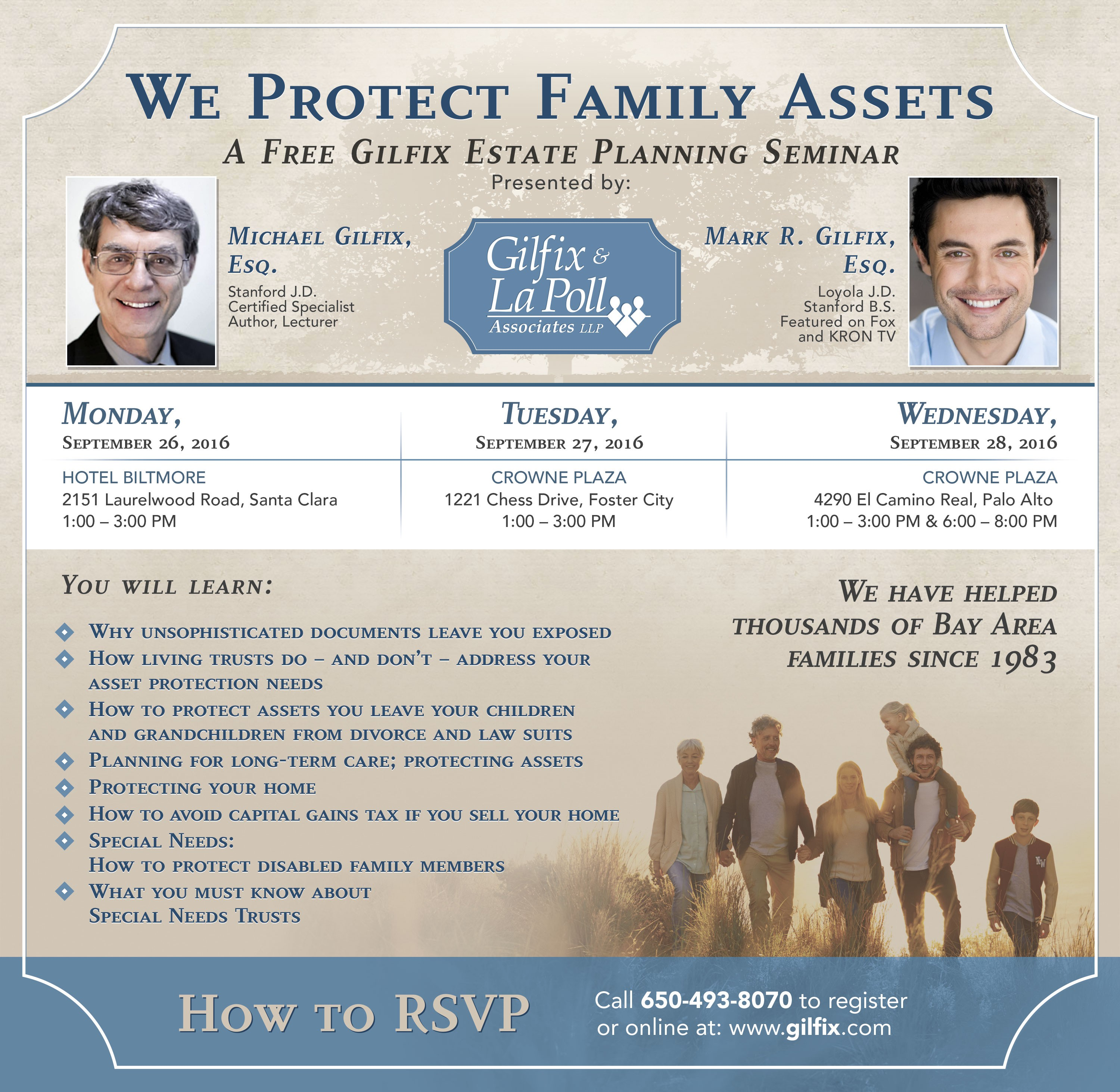 Create a newspaper ad for estate planning law firm