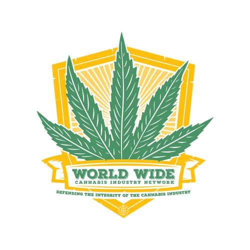 Cannabis shield logo