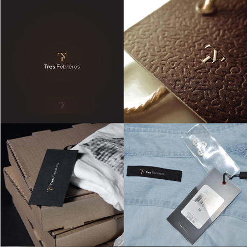 Luxurious logo for high-end semi-casual shirt brand.