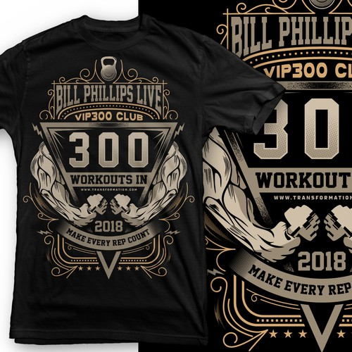 team workout shirt for Bill Phillips fitness group