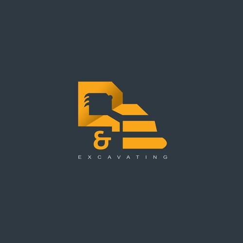 D&E excavation logo