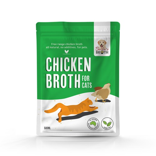 Chicken broth for cats