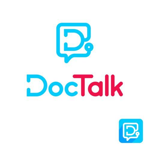 Concept logo for medical communication App
