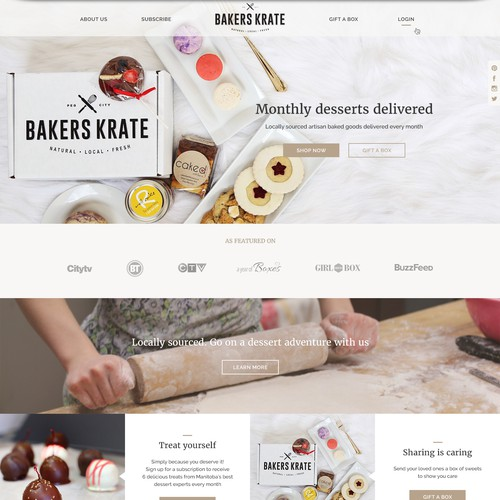 Web design for bakery