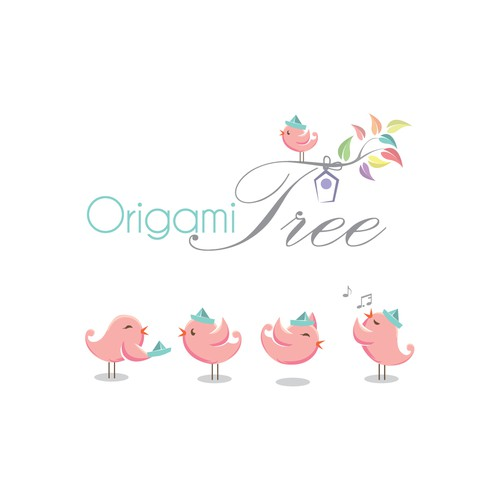 Create a logo for ORIGAMI TREE - Website that provides free paper craft video tutorials
