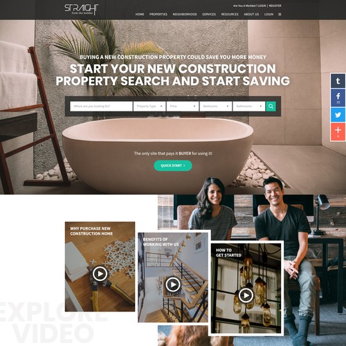Website Layout for New Realestate Concept