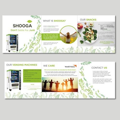 Brochure design for Shooga vending machines