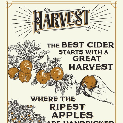 Poster for apple cider making process