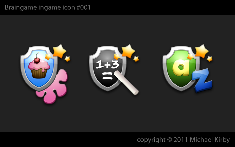 In-Game icon design for city defense game as part of multi-game app