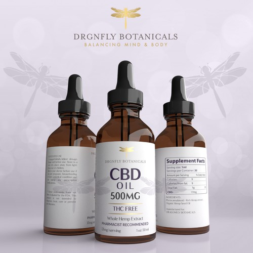 CBD OIL Label Design