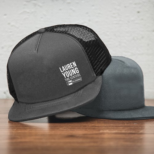 Simple and bold lettering cap concept for Lauren Young Tire Centers