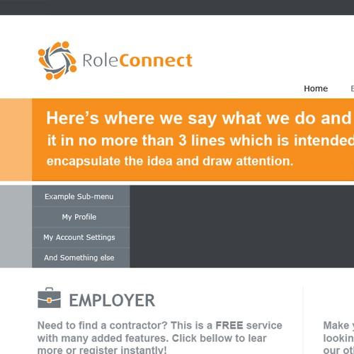 Interesting challenge to design a minimalist homepage