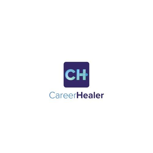 CareerHealer logo design