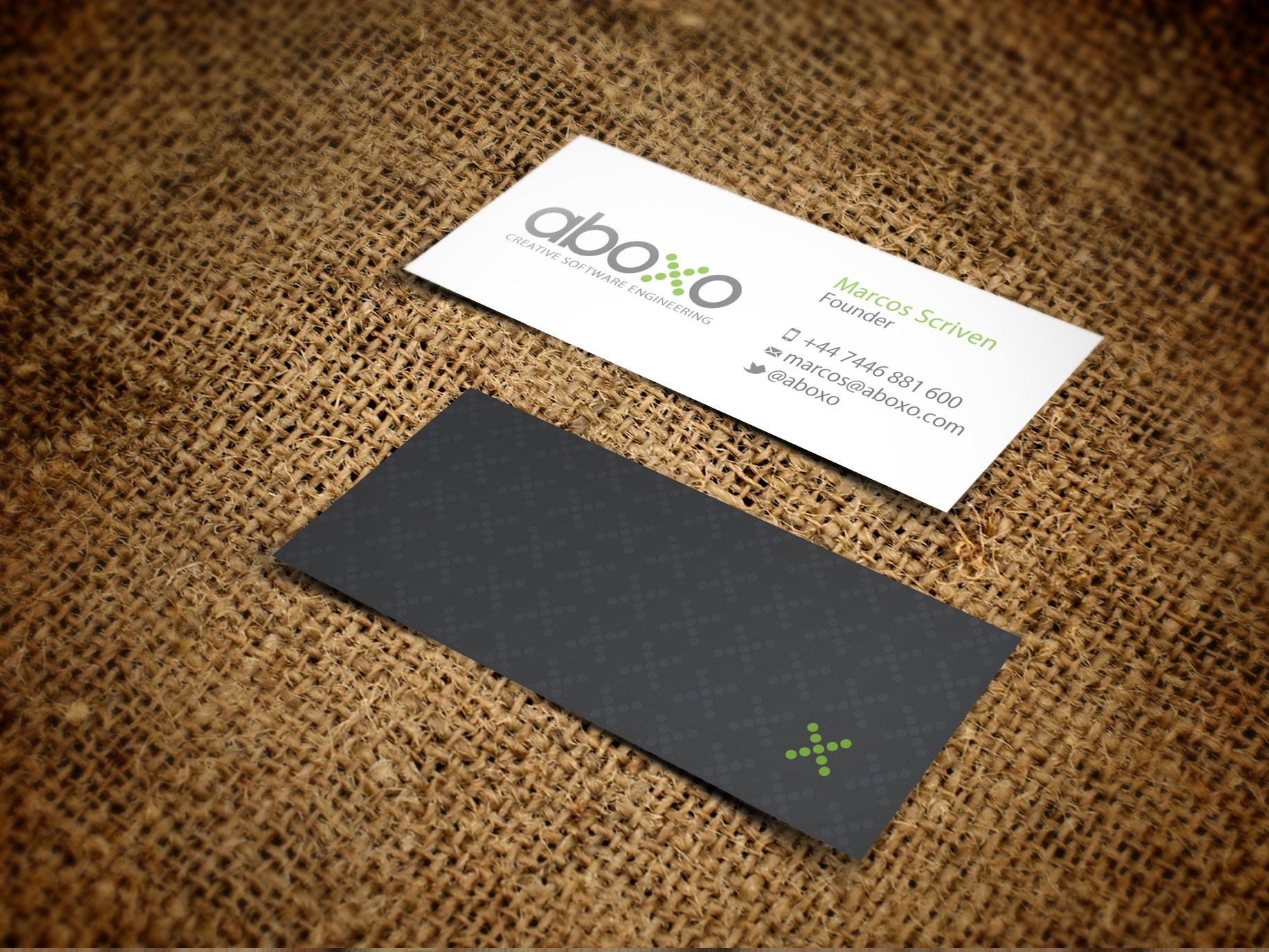 New stationery wanted for Aboxo Ltd.