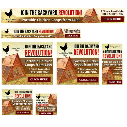 Create the next banner ads for Handcrafted LLC