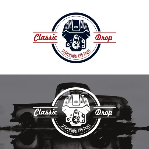 Logo concept for classic car parts