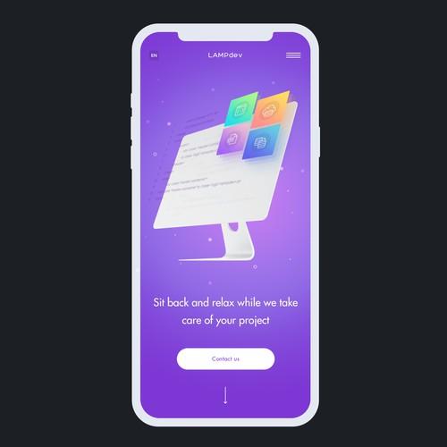 Mobile website design for Lampdev
