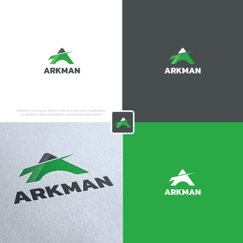 Designed a logo with initials used A