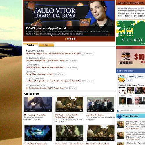 Create the next website design for Desert Sky Games