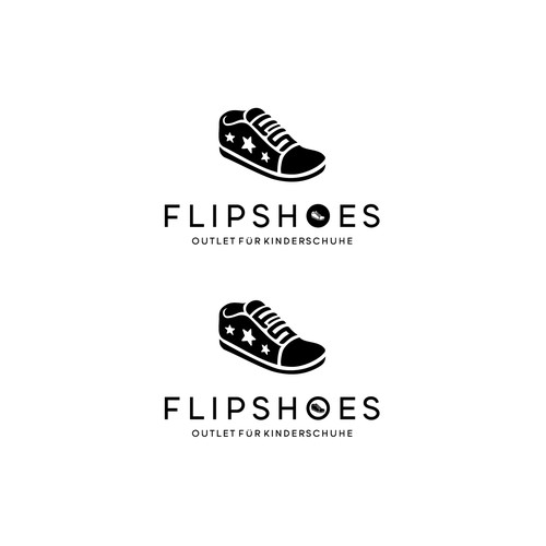 Bold logo concept for flipshoes