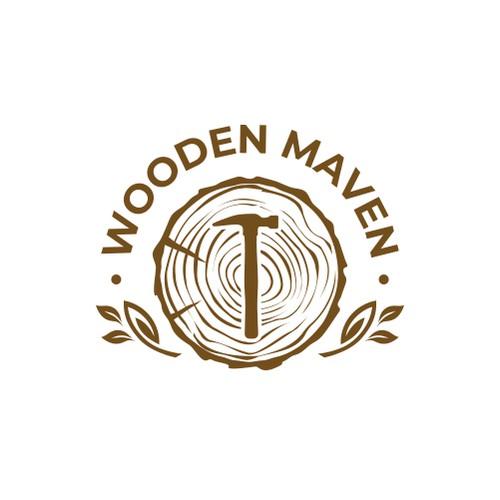 Female Woodworker Needs Logo