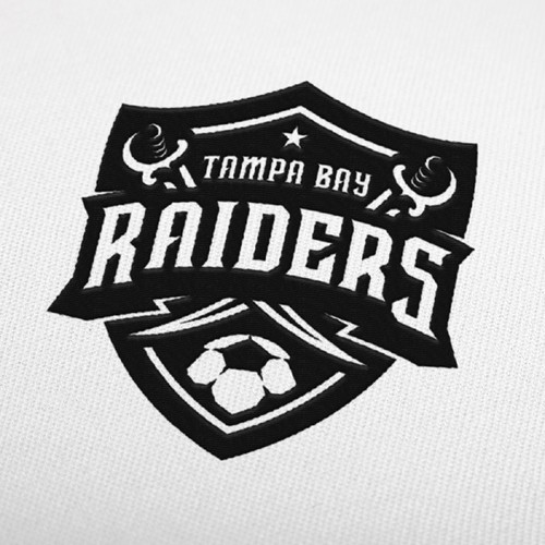 Logo for tampa bay raiders soccer