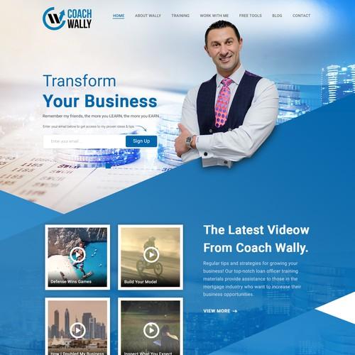 Coach Wally - Website Design