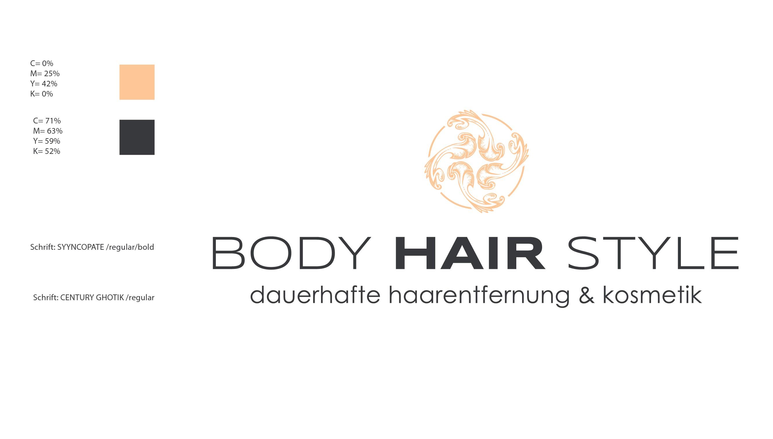 aussagekräftiges frisches neues LOGO für BODY-HAIR-STYLE