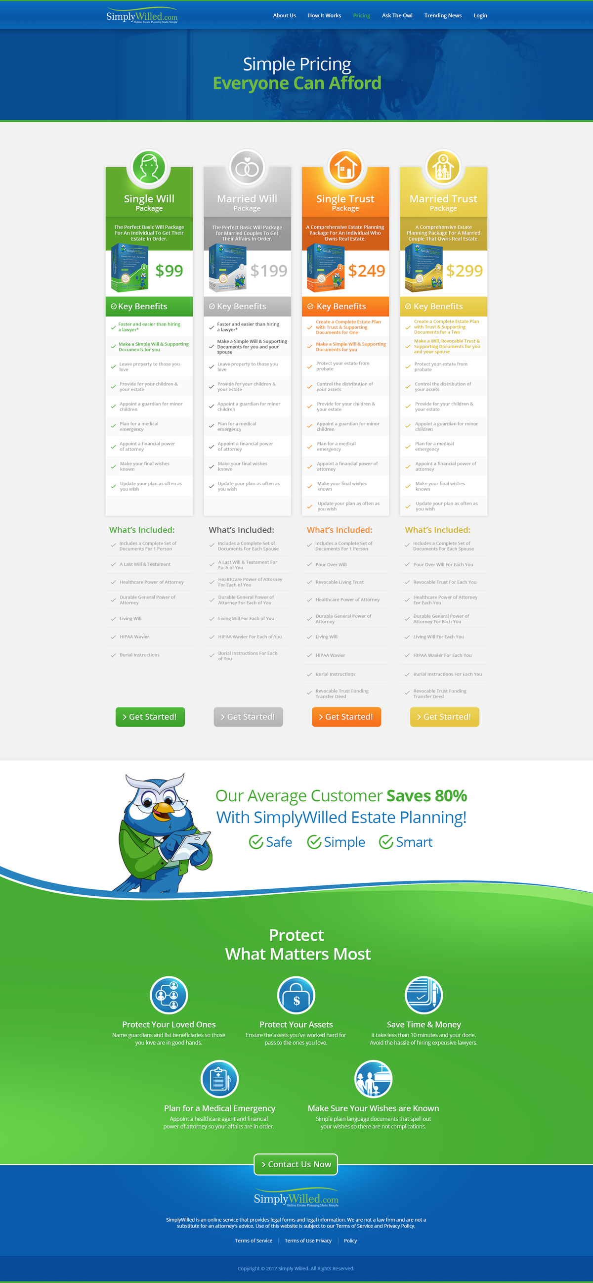 Clean Up of Pricing Page