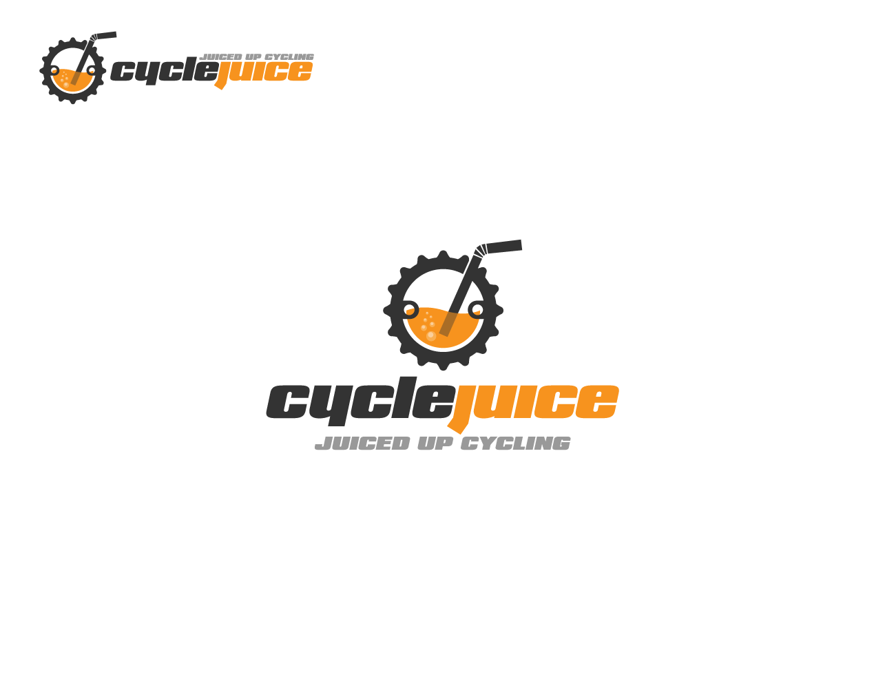Capture the energetic healthy CycleJuice logo for cyclists  :)