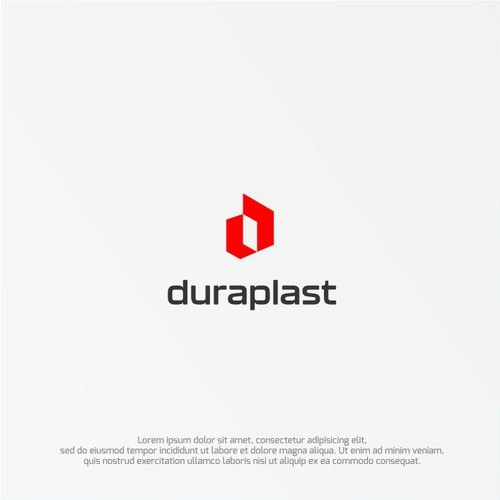 Modern logo concept for an industrial company