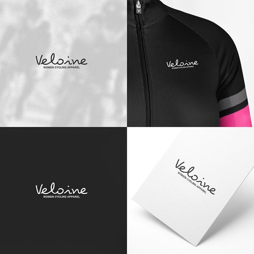 Logo for women cycling apparel