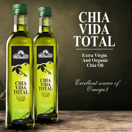 Extra virgin organic chia oil