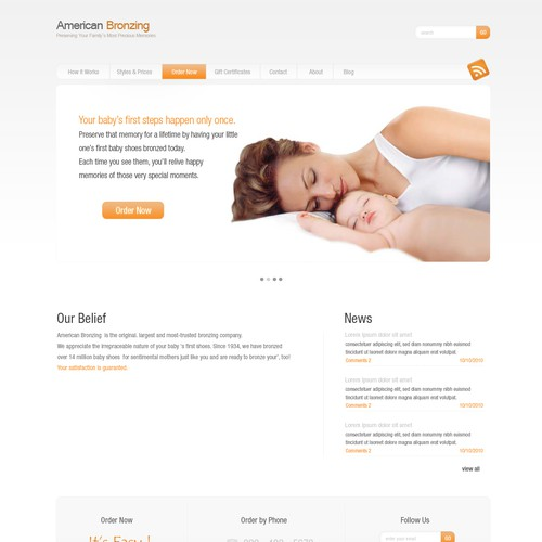 Beautiful Web Design in Wordpress