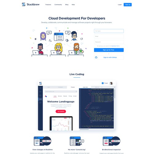 Stackbrew illustration homepage