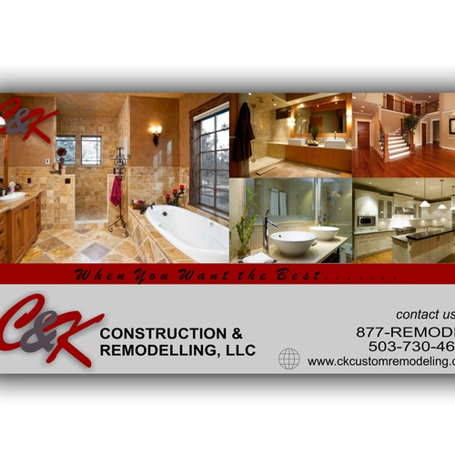 postcard or flyer for C&K Custom Remodeling