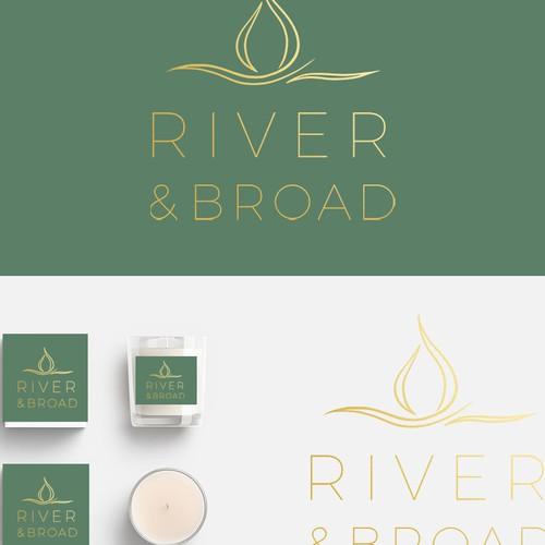 Luxury candle logo design