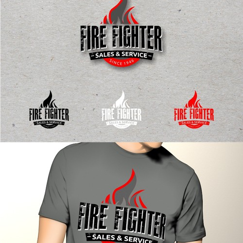 Fire Fighter logo concept