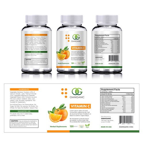 Nutrition Label for Omniganic