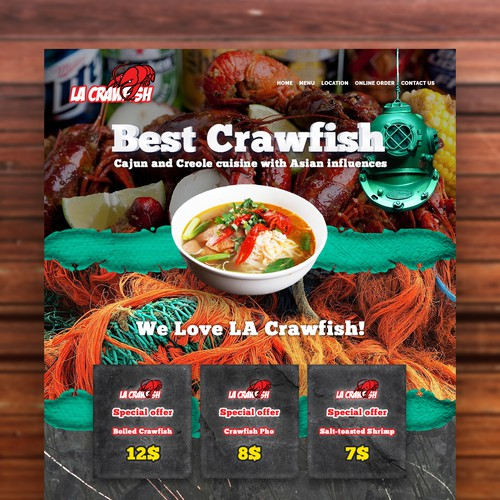 LA Crawfish Web Design