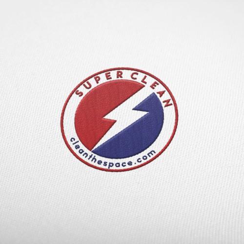 superhero styled logo company clean world