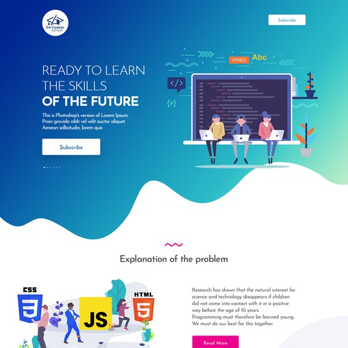 Get children ready for the future by designing the perfect website!