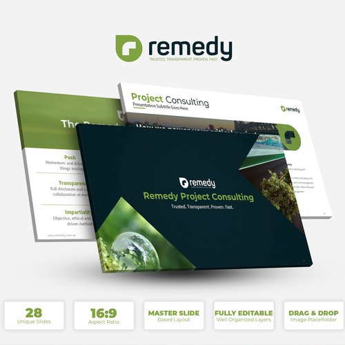 Remedy needs a clean, sophistacted presentation deck